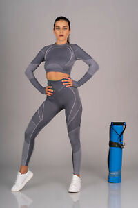 MERRIBEL 847 Luxury Super Soft Decorative Gym / Sports Top and Matching Leggings