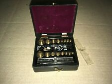 VINTAGE BRISTOL MYERS APOTHECARY BRASS WEIGHT SET / SCALE