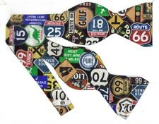 Route 66 Bow tie / Historic Highway Signs / Retro Bow tie / Self-tie Bow tie