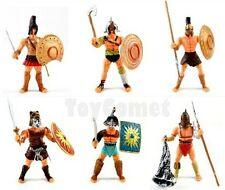Set of 6 Gladiator Warrior Fighter Roman Soldier Action Figures w/Weapons