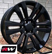 "20"" inch 20 x9"" Wheels for Chevy Avalanche Satin Black GMC Denali Rims"