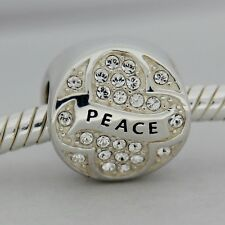 Authentic Chamilia 2025-1527 Peace On Earth Bead Charm