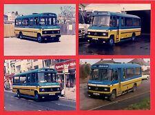 4 Photos ~ Hastings & District - Mercedes L608D Minibuses C802SDY etc - 1986/7