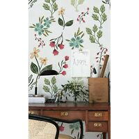 Removable wallpaper Berries and flowers Spring Flowers self adhesive art