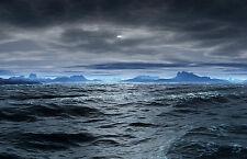 Incorniciato stampa-DARK e cupo SCENIC OCEAN VIEW (immagine poster arte dell' acqua)