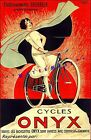 Cycles Onyx 1925 French Bicycle Art Vintage Poster Print  Retro Bicycle Art