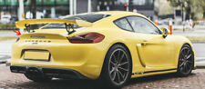 13-16 PORSCHE CAYMAN GT4 STYLE REAR DUCK TAIL SPOILER WING PLASTIC BLACK
