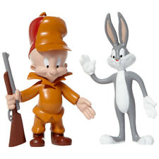 New Elmer Fudd and Bugs Bunny Bendable Pair Cartoon Figure Looney Tunes TV Toys