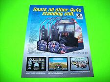 Atari ROAD RIOT 4WD 1991 Original Video Arcade Game Promo Sales Flyer Adv.