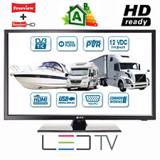 "MOTORHOME CARAVAN BOAT 12V 24"" Inch HDR LED Digital Freeview TV 12 Volt USB PVR"