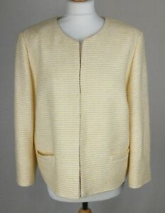 Jaeger Yellow Striped Jacket Size UK 16 - New with Tags