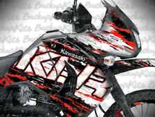 KAWASAKI KLR650 GRAPHICS STICKERS WRAPS  SUPER RALLY RED  2008 - 2018