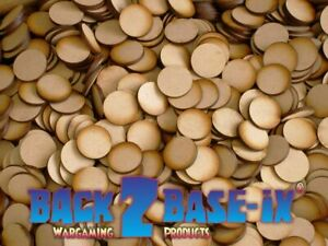 MDF Wood Base Disk Circle Shape 3mm Thick 10mm to 100mm Diameter
