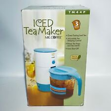 Mr Coffee Iced Tea Maker 3 Quart TM44P Blue NEW Sealed 2006