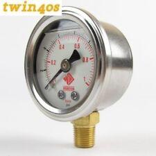 Webcon High Quality fuel pressure gauge 0-15psi for carbs Weber Dellorto