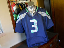 NIKE SEAHAWKS #3 RUSSELL WILSON JERSEY, MEN'S SIZE 56 (XXL) **ALTERED LENGTH**