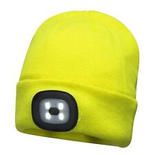 Portwest Light Up Beanie Safety Winter Hat with Rechargeable LED Headlamp