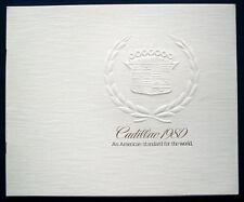 Prospectus Brochure 1980 CADILLAC (USA)
