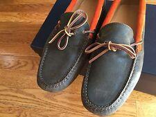 $425 NIB RALPH LAUREN Halesworth Loden Orange Suede Leather Shoes ITALY BROWN 10
