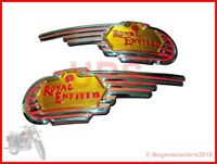 ROYAL ENFIELD BULLET TANK DECAL BADGES BOTH SIDE PAIR