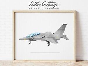 Fighter Jet Art, Aircraft Print, Play Room Decor, Airplane Wall Art, Transportat