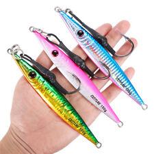 3pcs/lot Vertical Jigging Fishing Lure 80-300g Saltwater Big Game Lead Metal Jig