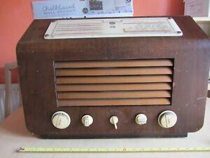 HMV Model 5201 Radio vintage valve circa 1947 untested spares repair