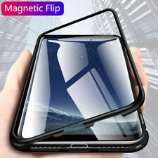 Magnetic Adsorption Metal Tempered Glass Cover Case For Samsung Galaxy S10 Plus