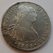 Mexico 1796 Spanish Colonial Silver Mexico City Carlos IV 8 Reales Coin RARE