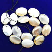 1 strand 24x18x7mm Natural Scenic Dendritic Agate Oval loose Bead 15.5inch
