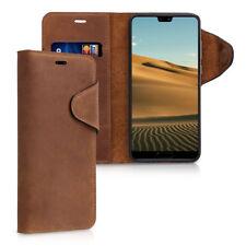 Wallet Leder Case Hülle für Huawei P20 Pro Braun Cover Handy Tasche Schale