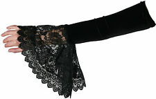Wedding Victorian Flaired Bridal Prom Goth Long Arm Gloves 1508