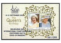 Australia 2021 Melbourne Stamp Expo Postponed Due To Pandemic Opt Mini Sheet MUH