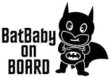 BATMAN Bat Baby On Board Vinyl Car Decal Sticker 20cm x 14cm