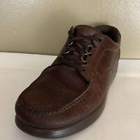 SAS Tripad Comfort Mens Size 8 WW Brown Pebble Leather Lace Up Comfort Shoes