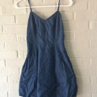 Mimi Chica Denim Womens Dress Size XS Spaghetti Strap Cotton Pockets