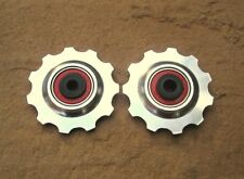 MT ZOOM SILVER Ceramic Bearing Alloy Jockey Wheels 11T PAIR shimano KCNC sram