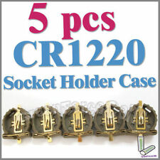 5 x Battery Button Cell Socket Holder Case CR1220 1220