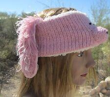 HEAD BAND HEADBAND pink poodle earband mens womens ski bunny rabbit ear band NEW
