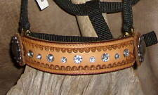 US Made Custom MINI Pony Bronc Halter, Hand Tooled, Sparkling Rhinestones.! G&E