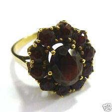 Granatring Goldring 333er Gold 11 Granate Ring Gelbgold 8 Karat GG Gr. 57