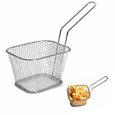 Stainless Steel Mini Chip Fryer Serving Food Strainer Kitchen Fry Basket Strain
