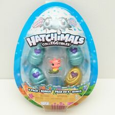 Hatchimals Colleggtibles 4 Pack + Bonus Mermal Magic Toys Pink Pig