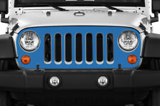Custom Vinyl Decal Grille Wrap for Jeep Wrangler Rubicon Grill Skin 2007-16 BLUE