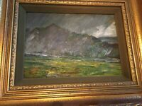 "Gustave Wiegand ""Passing Rainstorm"" Painting, Signed  MB74"