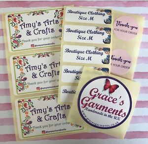 Personalised Stickers with your Logo Brand - Custom Size or Postage Labels