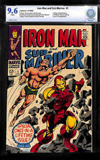 Iron Man & Sub-Mariner #1 CBCS 9.6 1968 Free CGC Mylar! White Pages! E11 cm