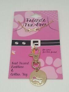 Womens Fashion Jewelry Necklace Dog Pet Collar Tag Set RAA