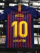 Nike Fc Barcelona Home Jersey 18/19 Blue Red Boys Unisex Size Youht Large   Only