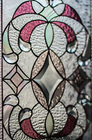Tiffany Style Stained Stain Glass Window Diamonds Victorian Beveled Iridiscent 1